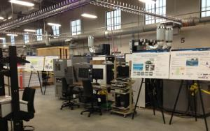 Energy System LaboratoryHybrid Vehicle battery testing area in the new building recently dedicated at the Idaho National Laboratory Photo: Will Jenson