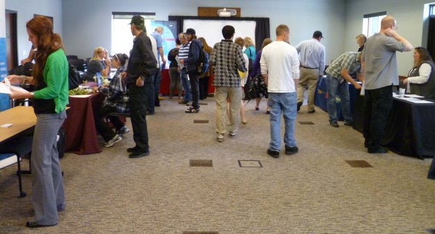 Job seekers were actively engaged with employers at the first Monthly Hiring Event at the Kootenai office of the Idaho Department of Labor.