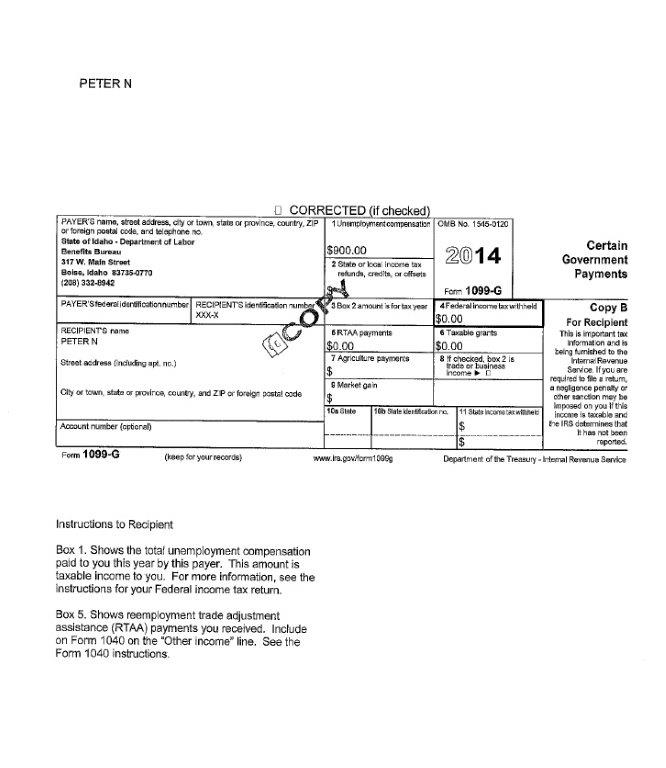 Why Did I Receive A 1099G Tax Form? | Idaho@Work
