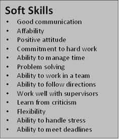 soft skills table